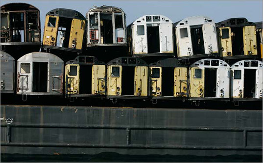 Recycling New York Subway Cars