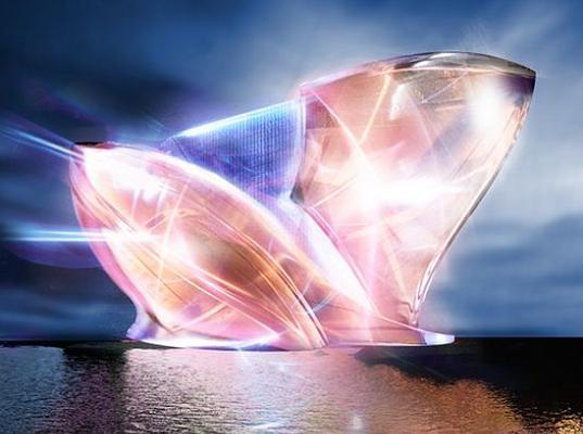 Blue Crystal at Night