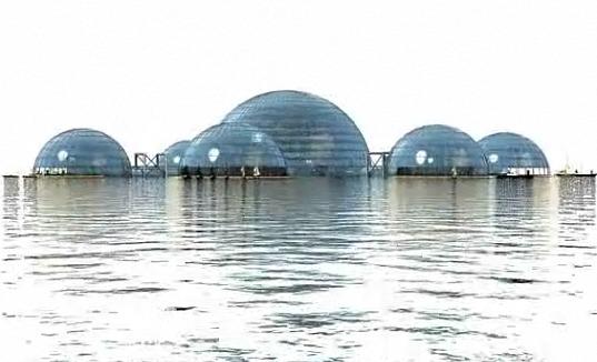 Sub Biosphere 2 Floating in Water