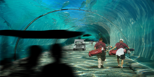 Floating Golf Course Tunnel