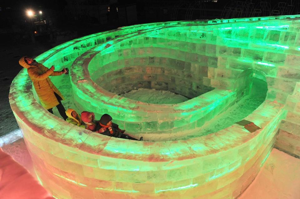 Ice Festival Slide