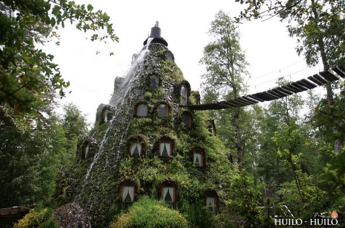 Magic Mountain Lodge Bridge and Waterfall