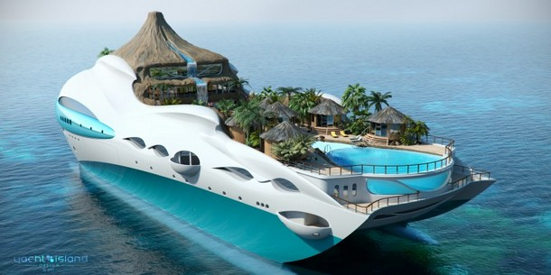 Tropical Island Exotic Yacht