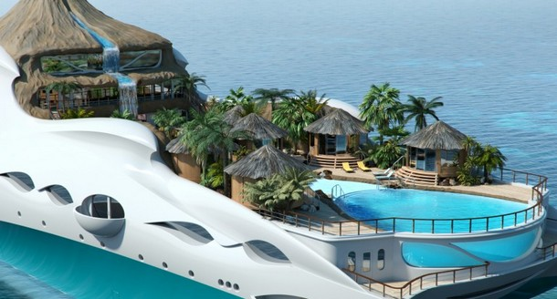 Imitation Beachfront Yacht