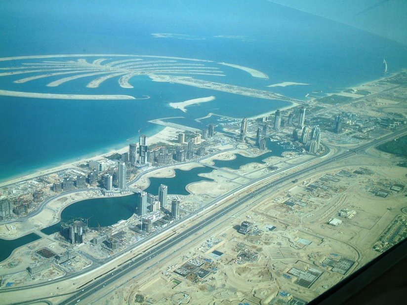 Aerial Shot of the Dubai Islands