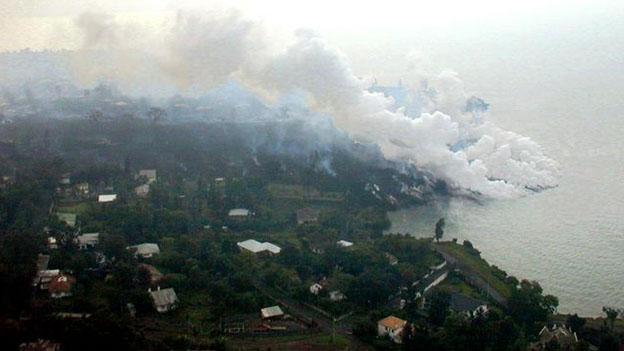 Lake Kivu Leaking Gas