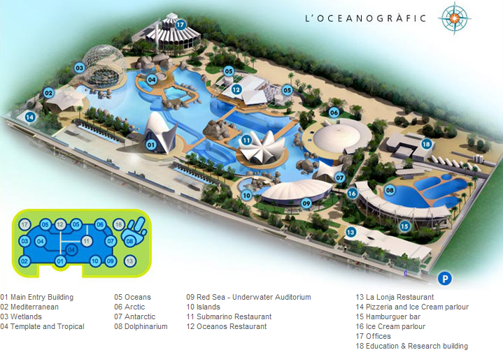 Layout of L'Oceanografic