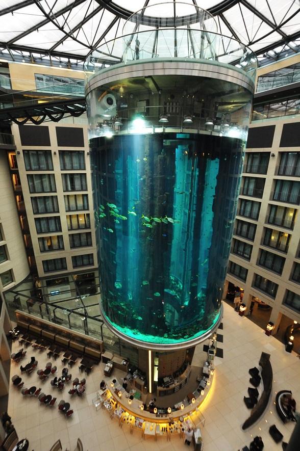 AquaDom Aquarium at the Radisson Blu