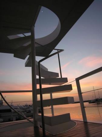 Dubai Houseboat Spiral Staircase