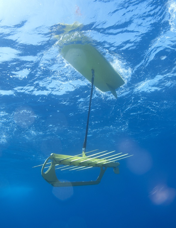 Underwater Sensors on Wave Gliders