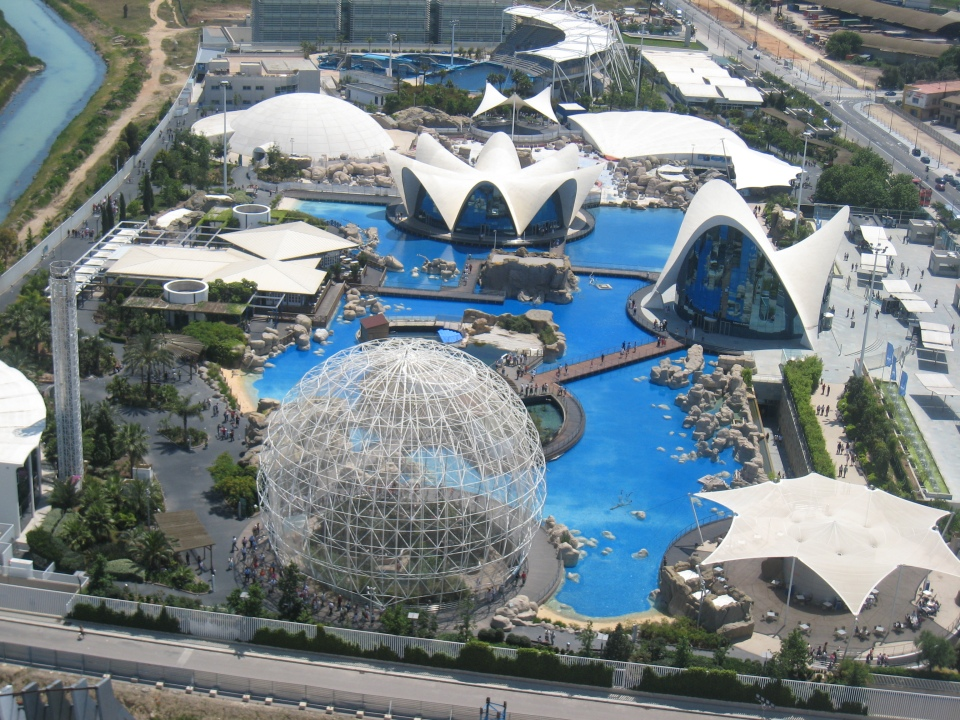 Aerial Shot of L'Oceanografic Aquarium