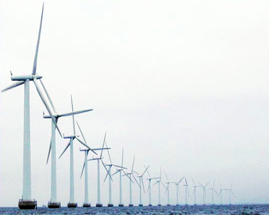 Japanese Coastal Wind Farm