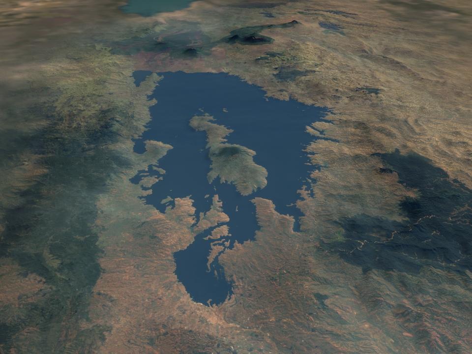 Lake Kivu from Space
