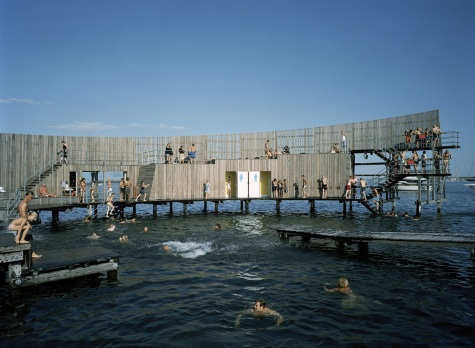 Swimmers at the Kastrup Sea Bath