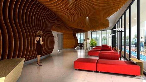 Interior of the Aquaria Grande Apartments