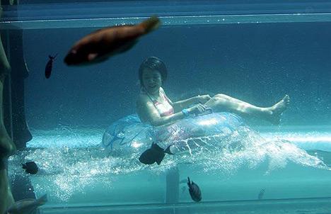 Underwater Tubing Ride at the Atlantis