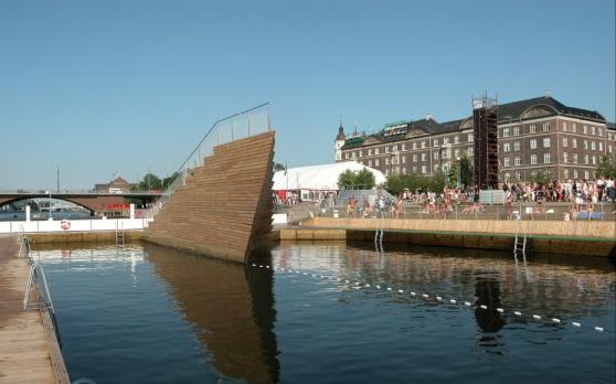 Copenhagen Harbor Bath Ship Prow