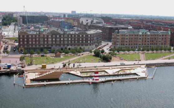 Aerial View of the Copenhagen Harbor Bath