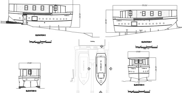 Blueprint of the Boat Houses