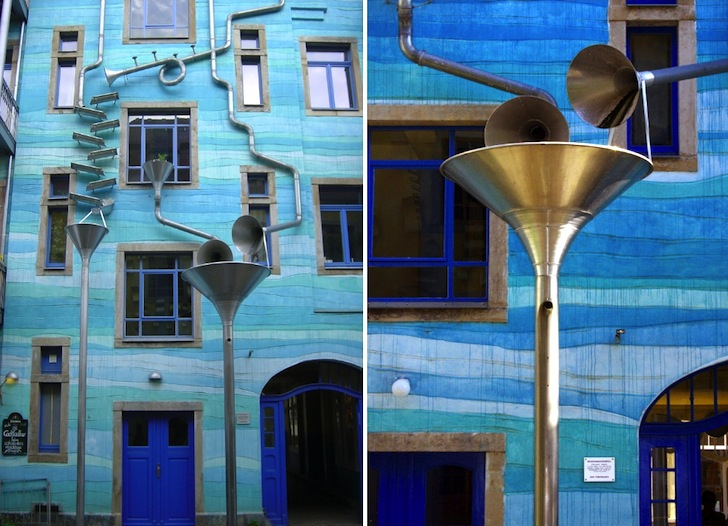 Funky Blue Musical Building in Dresden