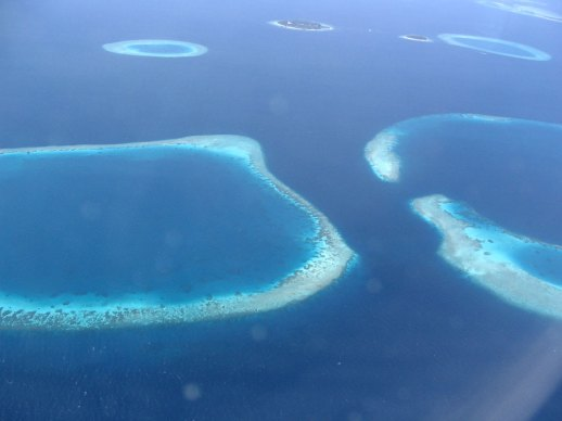 Aerial View of the Maldives Archipelago