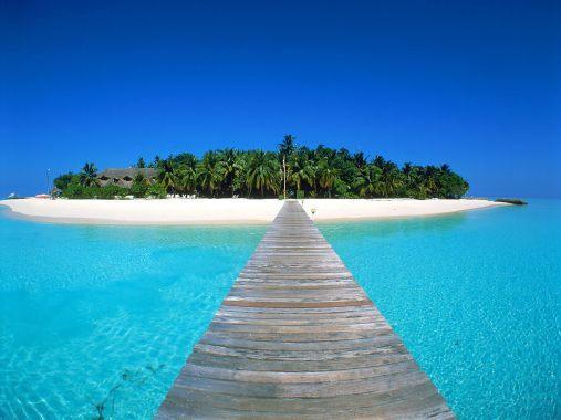Low-Lying Maldives Island