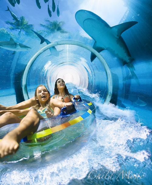 Shark Attack Tubing Ride at the Atlantis