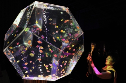 Gem-Faceted Aquarium at the Aquarium Art Tokyo Exhibit