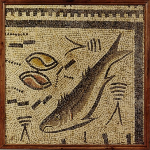 Roman Tile Mosaic of a Fish