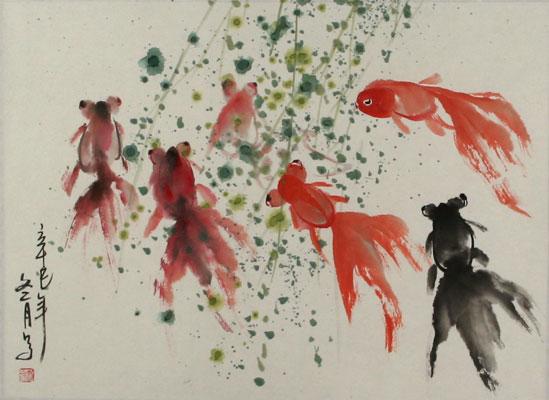 Oriental Goldfish Art
