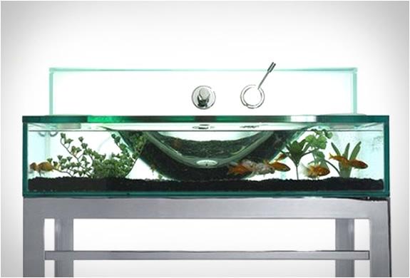 Aquarium Bathroom Sink