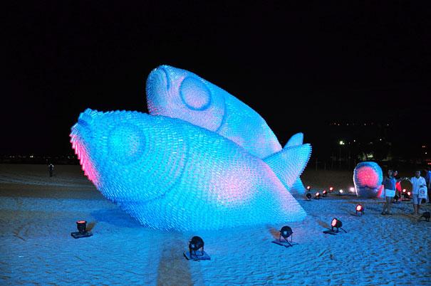 Plastic Fish Sculpture in Rio de Janeiro