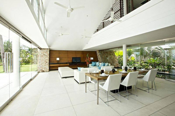 Aqualina Home Dining Room and Living Room