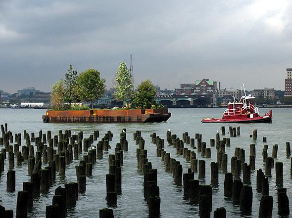 Robert Smithson's Floating Island