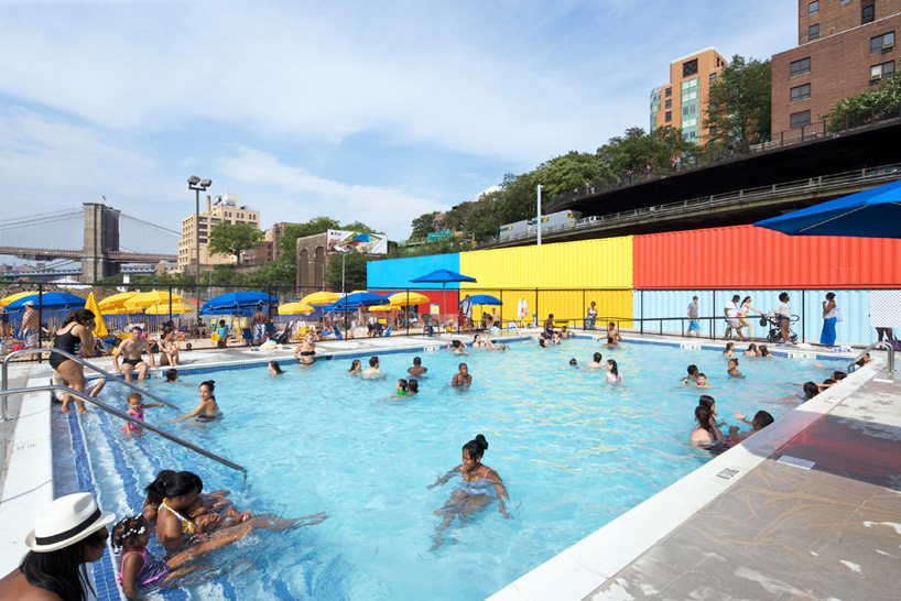 Brooklyn Pool and Shipping Container Changing Rooms