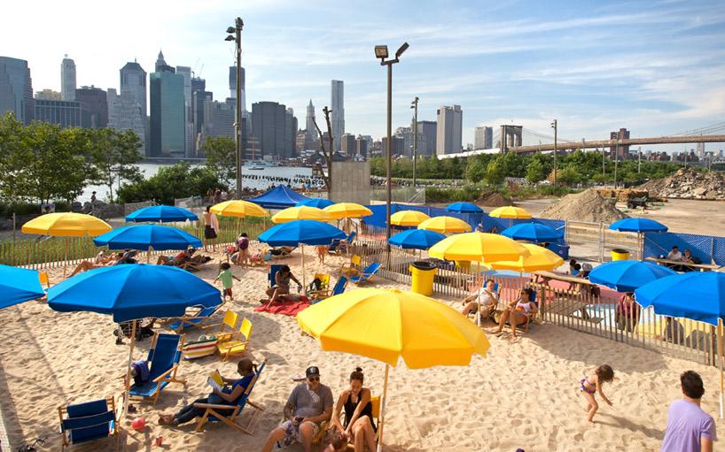Brooklyn Pop-Up Pool Beach Area