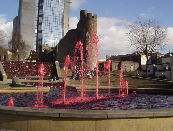 Blood Fountain in Wales