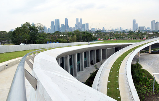 The Roof of the Marina Barrage