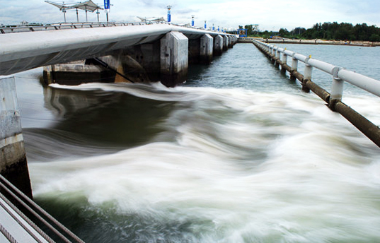 Marina Barrage Flood Control