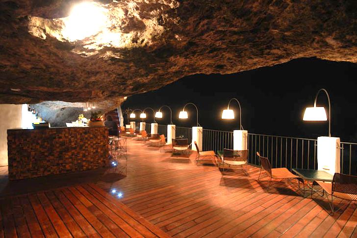 Summer Cave Overlooking the Mediterranean Sea