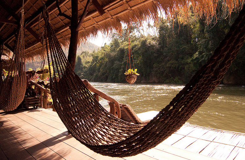 Hammock at the River Kwai Floating Hotel