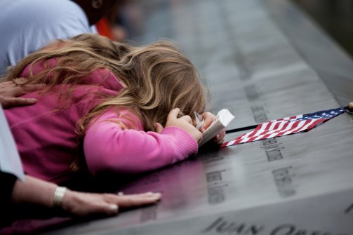 Mourning at the 9/11 Memorial