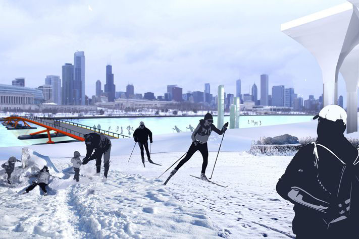Northerly Island in Winter