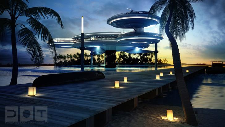 Water Discus Underwater Hotel