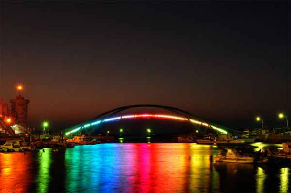 Glowing Rainbow Bridge