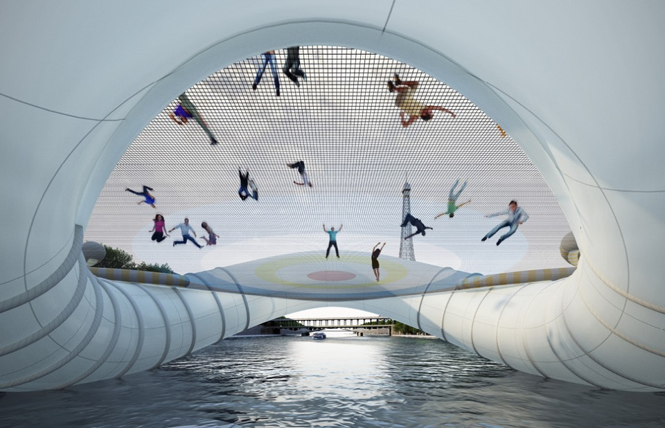 The Trampoline Bridge of Paris