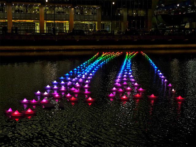 London's Voyage Floating Light Exhibit