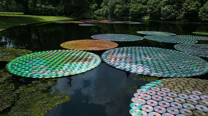 Floating CD Lily Pads