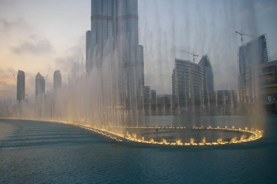 Khalifa Fountain in the United Arab Emirates Fountain