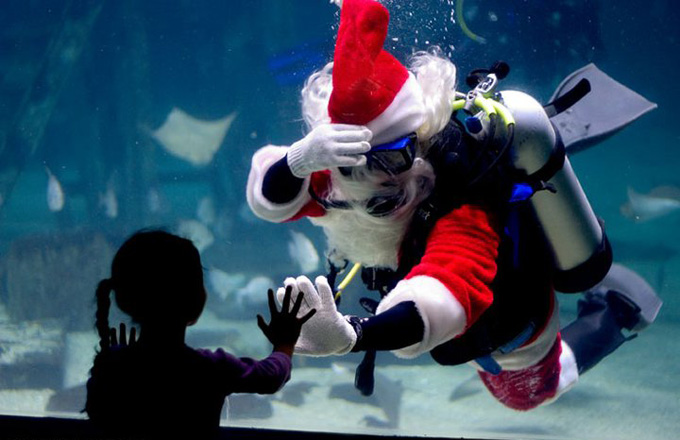 Scuba Santa Claus